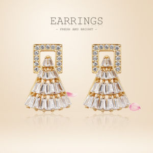 China New 2018 Latest Gold Earring Designs Dubai Gold Jewelry