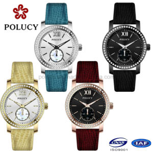 Factory OEM Rose Gold Ladies Slim Stone Watch for Women pictures & photos