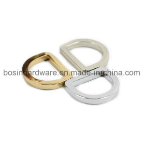 Small 1/4 Inch Metal Plain Belt D Ring