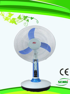 16 Inches DC 12V Rechargeable Fan Solar Table Fan (FT-40DC-H3)