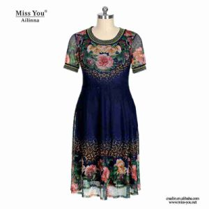 Miss You Ailinna 305322 Low Price Black Floral Mesh Women Dress pictures & photos