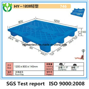1200X800mm 9 Leg HDPE Light Duty 4 Way Plastic Pallet For Shipping