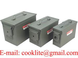 Bo/îte de munitions US olive Plastique Cal grand 50 mm