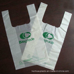Biodegradable Plastic T-Shirt Shopping Bag, Vest Carrier Bag