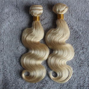 Body Wave Color #613 Blond Remy Hair Weft pictures & photos