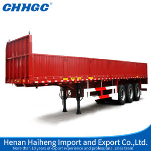 3 Axles 40 Ton High Strength Steel Side Wall Semi-Trailer