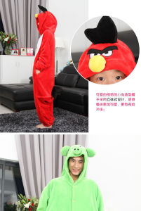 Kuka Cartoon Redangry Bird Onesie Cosplay Costume Pajama Pyjama