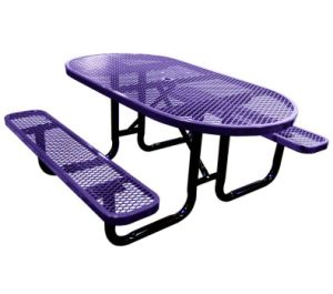 46-Inch Expanded Metal Octagonal Picnic Table Stamped pictures & photos