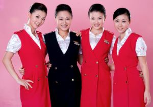 Airlines Uniform with Skirt for Women pictures & photos
