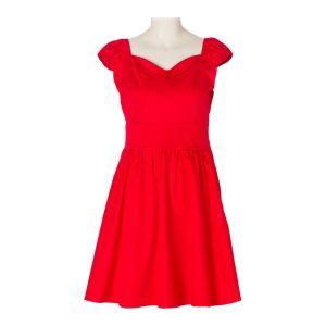 a71b9d1a337 China Vintage Plain Suit Cotton Plus Size Red Cocktail Party Dress ...