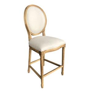 China High Round Back Louis Xvi Chair Antique Furniture Wooden Bar