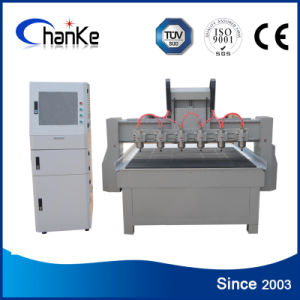 6 Heads Wood CNC Router Machine for 3D Embossment Work pictures & photos