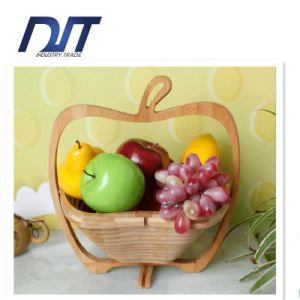 Foldable Weaving Portable Picnic Bamboo Fruit Basket