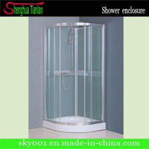 Low Tray Simple Sliding Glass Corner Bathroom Shower Stall (TL-502) pictures & photos