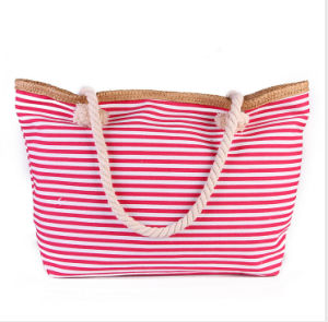 Fashion Striped High-Capacity Canvas Bag Will Carry Casual Canvas Shoulder Bag