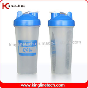 600ml Plastic Protein Shaker Bottle with Blender mixer Ball Inside (KL-7017) pictures & photos