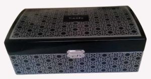 China Brand Luxury Special Wooden Jewelry Gift Box with Silver