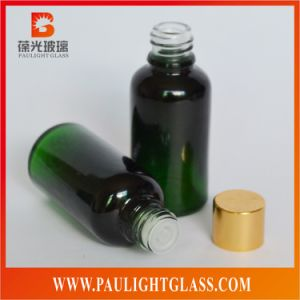Painting Green Essential Oil Glass Bottle with Stopper and Cap