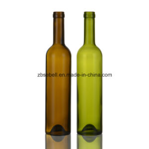 500ml Glass Wine Bottle with Cork Finish pictures & photos