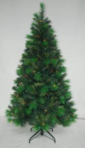 Realist Artificial Christmas Tree with String light Multi Color LED Decoration (AT1011) pictures & photos