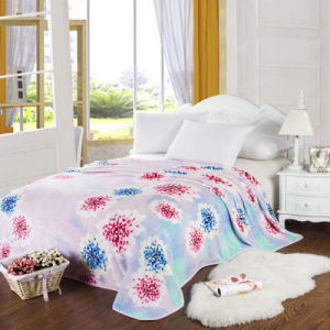 High-Quality Flower Printed Flannel Fleece Blanket