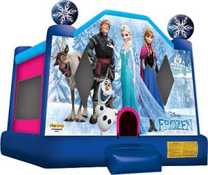 Inflatable Reindeer and Snow Themed Castle with Slide pictures & photos