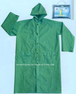 0.32mm Long PVC Raincoat R9034 pictures & photos