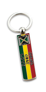 Jamaica Long Flag Spinner Key Tag for Gift (SK141) pictures & photos