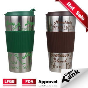 Promotion Double Wall 16oz Insulated To Go Coffee Mug Cup W Cover Spill Proof Stainless Steel