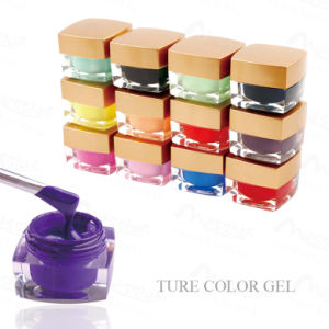 Professional Nail Art Soak off 8g Rich Colors Nail Opaque Gel Ture Colour UV Painting Gel