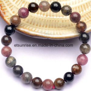 Semi Precious Stone Fashion Crystal Tourmaline Bracelet pictures & photos