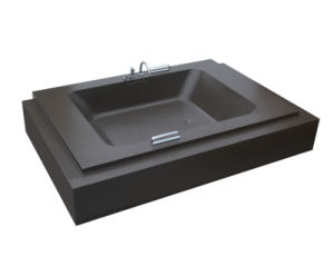 UK Lr Paste Black Resin Stone Huge Sitting Luxury Bathtub