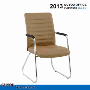 Brown Leather Office Furniture Chair Without Wheels