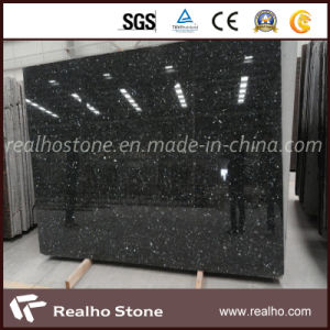 Polished Star Black Galaxy Granite Slabs for Countertopp