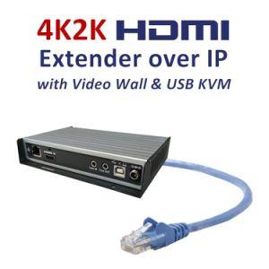 China 4K2K HDMI/USB Kvm Extender Over IP with Video-Wall - China