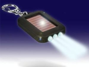 Portable Mini LED Solar Torch Keychain, Key Ring, Good for Promotion Gift