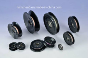 Placsic Flanged Ceramic Pulley/Groove Ceramic Roller/Wire Roller for Winding Tensioner pictures & photos