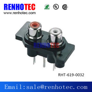 RCA PCB Mount Female Outlet Jack RCA Socket Black pictures & photos