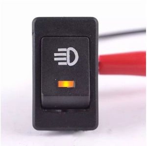 Orange Car 4 Pins DC12V LED Fog Toggle on /off Switch pictures & photos