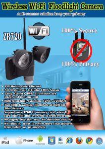 Night Vision WiFi PIR Camera with 720p Waterproof Security Light Camera