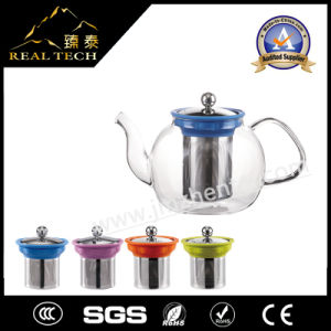 Tableware Handblown 500ml Transparent Borosilicate Glass Teapot with Infuser