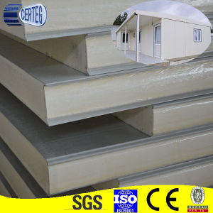 insulated factory PU sandwich wall panel with best price pictures & photos