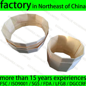 Customized Wood Baking Ring Poplar Wood Disposable