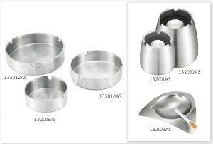 Stainless Steel Ash Trays for Hotel Guest Room & Office (132008AS) pictures & photos