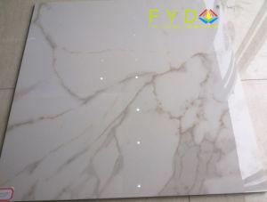 China Factory Carrara White Glazed Marble Porcelain Floor Tile ...