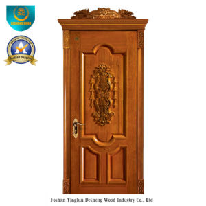 European Style Solid Wood Door with Carving (DS-018) pictures & photos