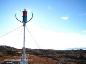 Ce Vertical Wind Generator Turbine with Aluminum Alloy Blades pictures & photos