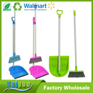Design Multicolour Plastic Folding Broom and Dustpan Set pictures & photos