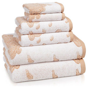 Fabulously Jacquard Design Cotton Terry Towel Set (DPFT8078) pictures & photos