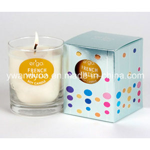 Customized Scented Soy Candle in Glass Jar